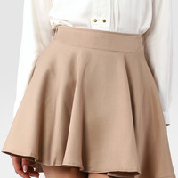 Khaki Skater Skirt - Retro, Indie and Unique Fashion