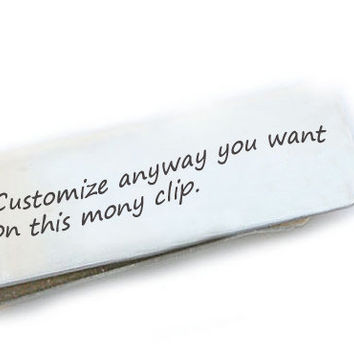 Personalized Money Clip Customize Men Father Gift Keepsake Accessory Husband Boyfriend Wedding Birthday