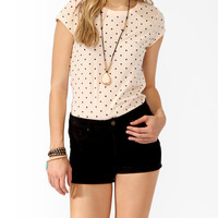 Fitted Polka Dot Tee