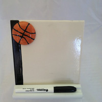 Basketball Ceramic Tile Dry Erase Message Board