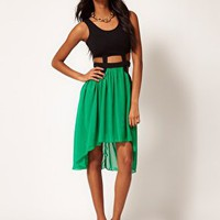Paprika Cut Out Chiffon Hi Lo Dress at asos.com