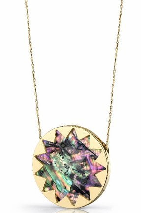 House of Harlow 1960 Abalone Starburst Pendant Necklace