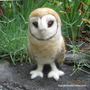 Mr Barn Owl by tracyemueller on Etsy