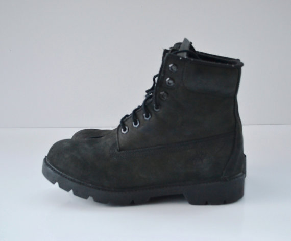 vintage black leather boots by timberland from