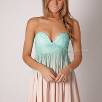 laura island cocktail - mint/beige at Esther Boutique