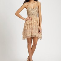 Aidan Mattox - Sequined Lace Dress