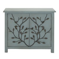 Patterned Wood Cabinet