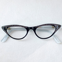 Cat Eye Glasses Frame France Vintage