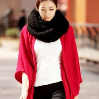 Cape Cardigan Sweater Red$30.00