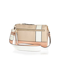 River Island Womens Pink color block sporty cross body bag