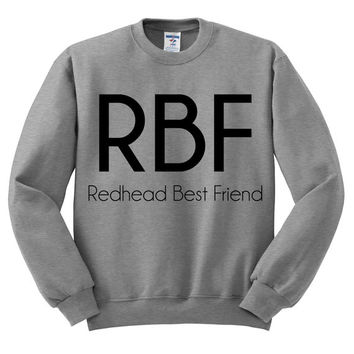 Grey Crewneck - Redhead Best Friend - Sweatshirt Sweater Jumper Pullover