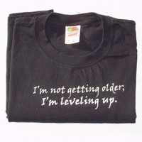 Leveling Up Tshirt M by rosaleendhu on Etsy