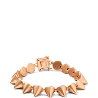 Eddie Borgo Rose Gold-Plated Small Cone Bracelet Pink