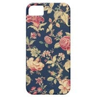 Elegant Vintage Floral Rose iPhone Case Iphone 5 Cover from Zazzle.com