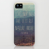 Nature More  iPhone Case by Silent K Design  | Society6