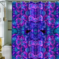 DENY Designs Home Accessories | Amy Sia Future Floral Blue Shower Curtain