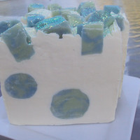 Issey Miyake Type with Shea Butter, Cocoa Butter and Pure Silk Soap Slice  / cold process soap Ready For October 9th