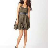 Miss Sixty Dress, Halter Sweetheart Neckline with Belt - Dresses - Women's - Macy's