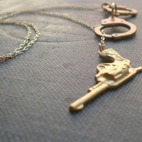Gun &amp; Handcuffs Necklace