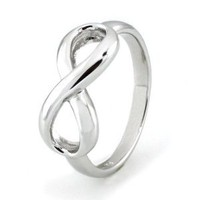 Sterling Silver Infinity Ring - Available Size: 4,4.5,5,5.5,6,6.5,7,7.5,8,8.5,9,9.5,10: Jewelry: Amazon.com