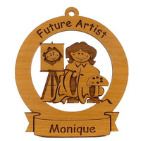 Future Artist Ornament Personalized with Your Child's Name