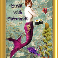 Sushi with Mermaids artisan perfume oil 1/8 fl oz