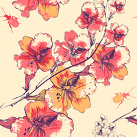 Removable Wallpaper - Springtime Flowers
