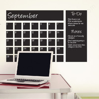 "Chalkboard Calendar wall decal - 24""x36"""