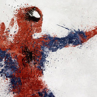 Spiderman Stretched Canvas by Melissa Smith | Society6