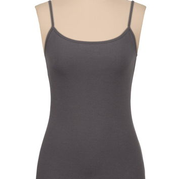 Colored Cami With Built-In Bra