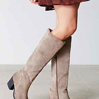 Jeffrey Campbell Torrent Distressed Suede Tall Boot- Grey