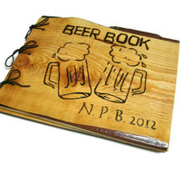 Personalized Brew Book - Beer Logs Notebook - Large Journal - Custom Cover Work