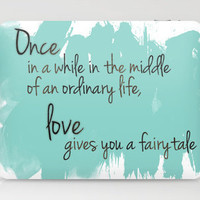 Love gives you a fairytale Laptop & iPad Skin by Michelle | Society6