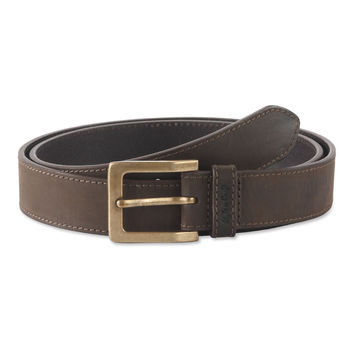 Belt in Top Grain Leather in Dark Brown Color - 392702 - Leather /