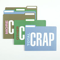 Total Crap File Folders | Z Gallerie