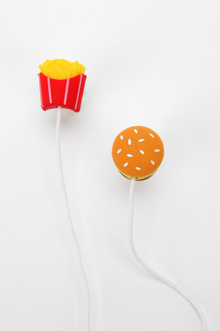 Fun Earbud Headphones - Fast Food