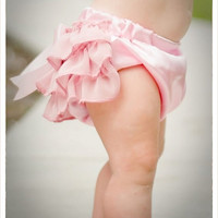 Ruffled Baby Bloomers Diaper Covers  pink delight by bonbonLand