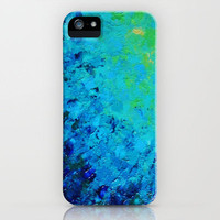 TRUE REFLECTION - Ocean Water Waves Ripple Light Impressionist Bright Colors Ombre Painting iPhone Case by EbiEmporium | Society6