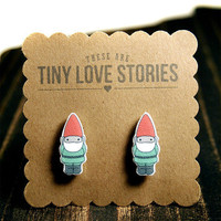 Garden Gnome Earrings from Tiny Love Stories