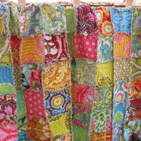 rag quilt throw size Amy Butler Soul Blossoms by ChezMartine