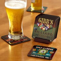 Send personalized coasters  from Redenvelope. $49.95