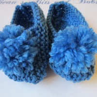 Blue Baby Slippers Newborn