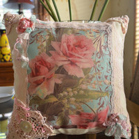 Floral Pillow Cottage Chic