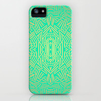 Radiate (Gold Teal) iPhone Case by Jacqueline Maldonado | Society6