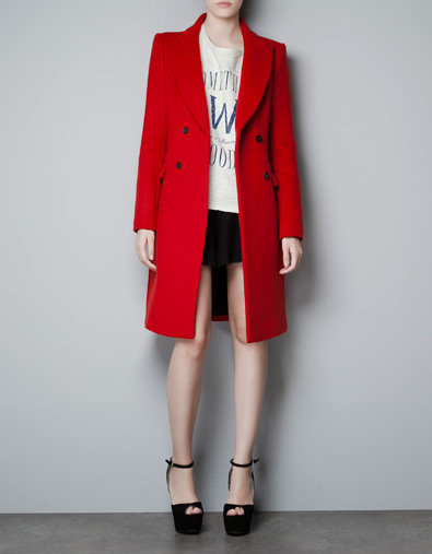 DOUBLE BREASTED COAT - Coats - Woman - ZARA United States