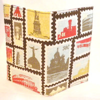 Stamp Passport Case travel passport cover postage stamp