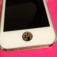 Set of 4-Iphone/Ipad Button Decals &amp; Monograms