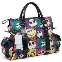 Sweet Multi-Color Skull Head Print Womens Tote Bag -  Milanoo.com