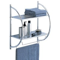 Organize It All 2 Tier Shelf with Towel Bars