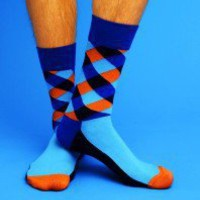Squares Socks - Blue - Unisex Happy Socks (M/L)